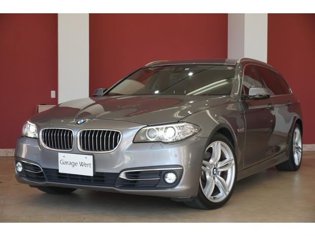 BMW 523dツーリング ラグジュアリー 後期モデル・黒革シート・地デジ付純正HDDナビ・バックカメラ・レーンキープアシスト・アダプティブクルーズ・緊急ブレーキ・ETC・HIDライト・スマートキー・純正OP19インチアルミ
