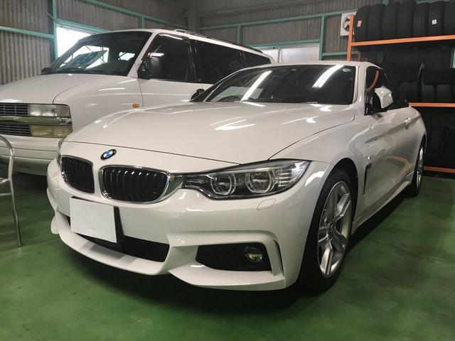 BMW 420iクーペ Mスポーツ 純正HDDナビ ブラックレザー