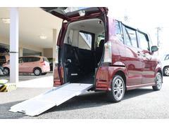 N BOX+カスタムG 車いす仕様 バックカメラ フルフラット シートヒーター