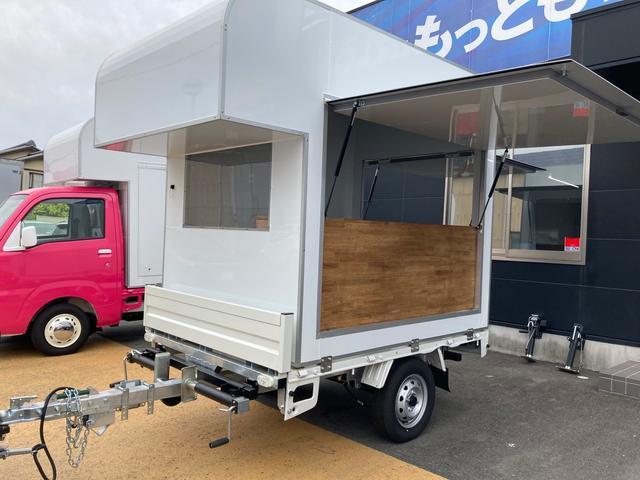 日本その他 日本  トレーラー型移動販売車 キッチンカウンター 電源バッテリー
