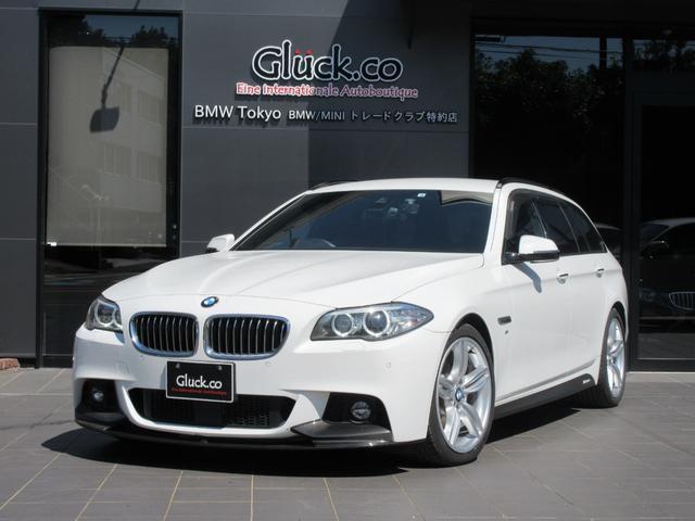 BMW 523iツーリング Mスポーツ Mパフォーマンスフロントスポイラー&サイドステッカー OPM19インチアルミ REMUS4本出マフラー 純正HDDナビ フルセグTV Bluetooth対応 衝突軽減 レーンアシスト