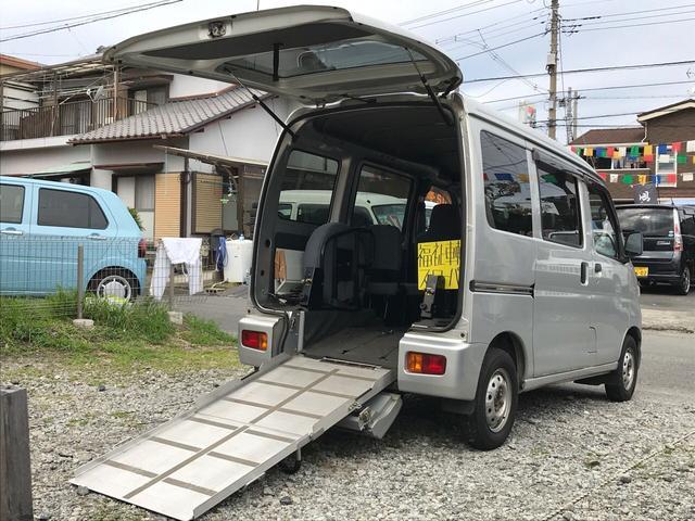 ダイハツ スローパー 福祉車両 リヤシート 車椅子収納