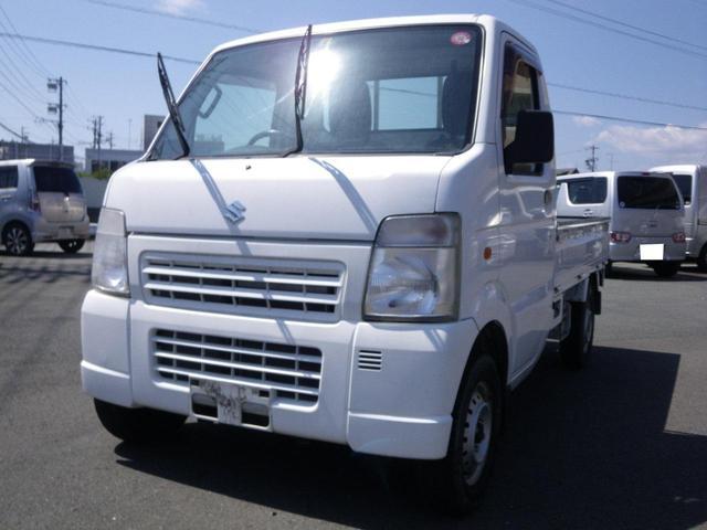 スズキ キャリイトラック KCエアコン・パワステ 4WD(レバー式) ロングホイールベース 32000km 装備(荷台荷台マット(5mm) アッパーメンバーガード リヤゲートチェーン バイザー マット)