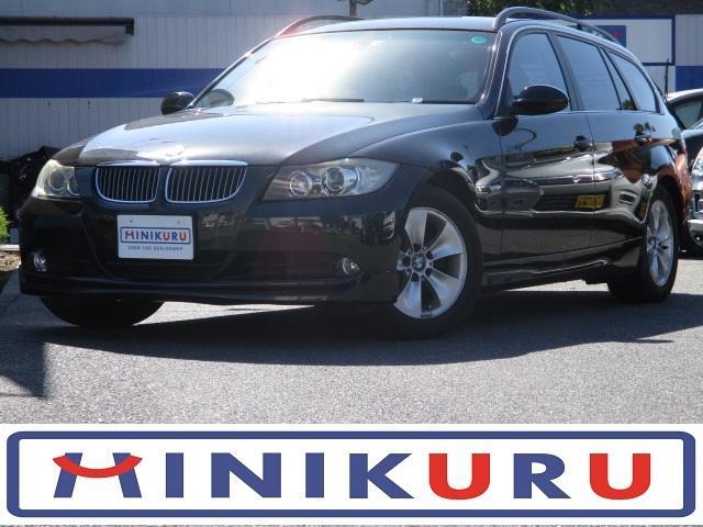 BMW 3シリーズ 325iツーリング ハイラインパッケージ 正規ディーラー車 キーレス 記録簿 社外ナビ地デジ Pスタート ETC 16アルミ HID AUX CDMD シートヒーター 黒皮シート Wエアバック パワーシート フルフラット AAC MTモード