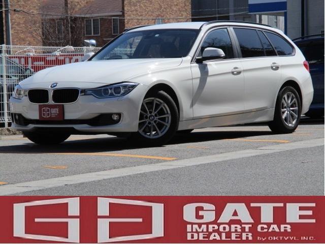 BMW 320iツーリング 正規ディーラー車 純正HDDナビ キーレス 記録簿 ETC 16アルミ 電動リアゲート MTモード Pスタート Bluetooth HID 電格ミラー WエアB ABS DVD再生 Pシート AAC