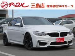 BMWM3 1オーナー 黒革 ナビ Fカーボンスポイラー LED