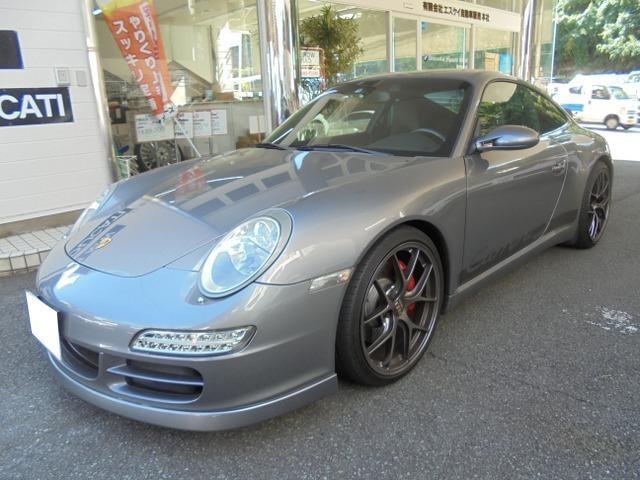 ポルシェ 911 911カレラS アイバッハサス icodeマフラー エアロスポイラー ダックテール フロントプロテクトフィルム カーボンコンビハンドル カーボンコンソール