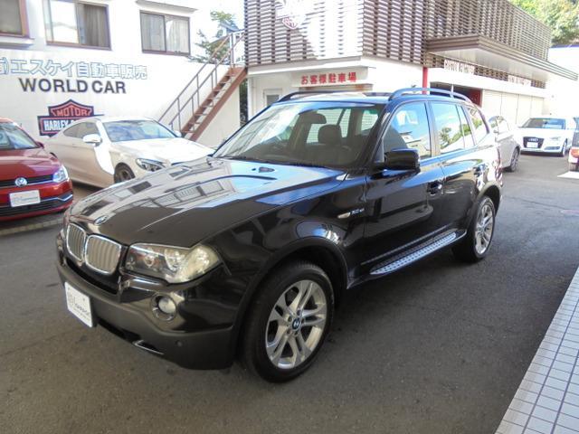 BMW X3 3.0si 4WD 純正ナビ ミラーETC レザーインテリア