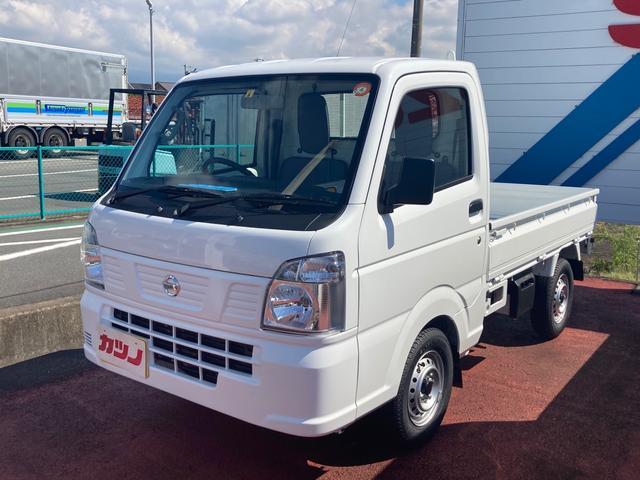 日産 DX 4WD 届け出済み未使用車 軽トラック ABS エアコン パワーステアリング 社外マット 社外バイザー Wエアバック オートマ
