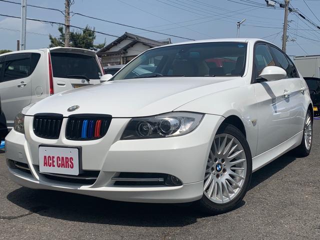 BMW 320i ハイラインパッケージ 内外装清掃済み 室内除菌済み スチーム清掃 キーフリー オートマ 革シート ETC 社外ナビ ワンセグ バックカメラ 17インチアルミ プッシュスタート セダン