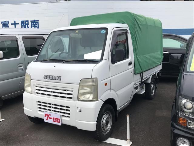 スズキ 幌 4WD 5速MT エアコン パワステ 軽トラック