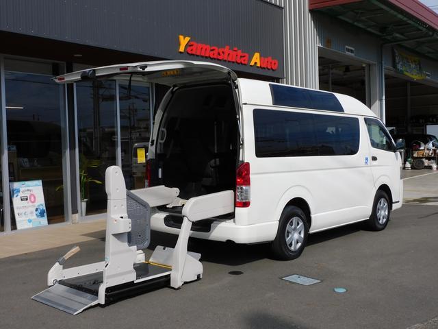 トヨタ  福祉車両車いすリフト 車いす2基10名乗車 バックモニター 車いす移動車 全国1年保証