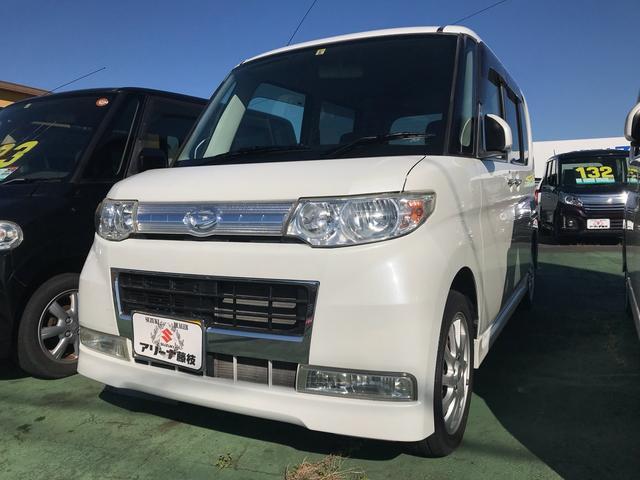 ダイハツ カスタムRS 軽自動車 ホワイト CVT ターボ 保証付