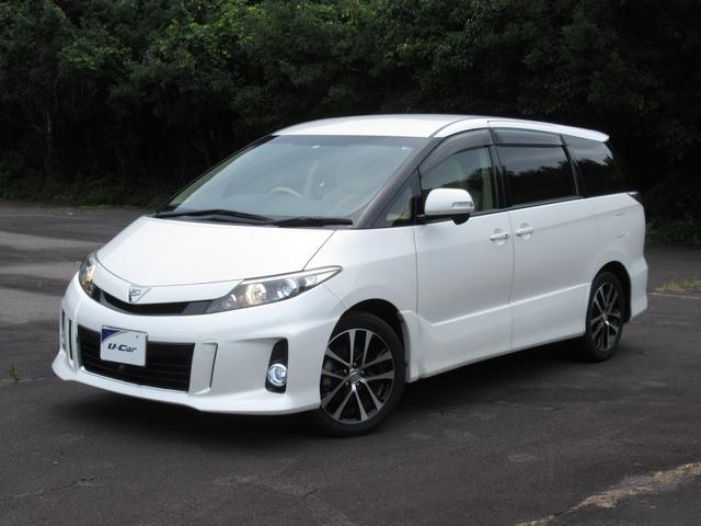 トヨタ エスティマ アエラス 両側電動スライドドア・後席モニター装着車