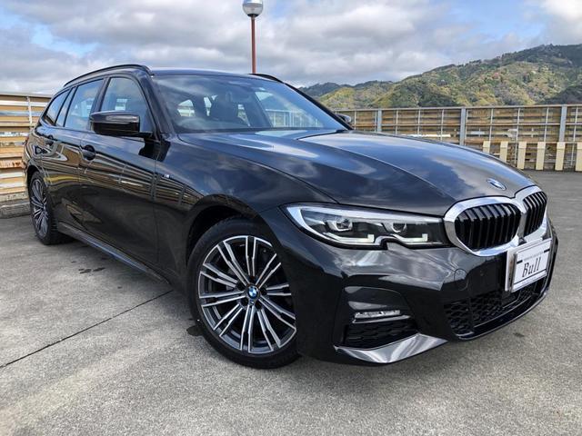 BMW 320d xDriveツーリング Mスポーツ 純正ナビ Bカメラ ハーフレザーシート シートH Pセンサー Pアシスト 後方衝突回避 クルーズC パドルシフト ルーフレール Pバックドア スマートキー Pスタート ETC