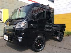 ハイゼットトラックジャンボ 2インチリフトアップ・外14AW・ブロックタイヤ・LEDヘッドライト・LEDフォグランプ・キーレス・荷台作業灯・荷台チェーン・リクライニングシート