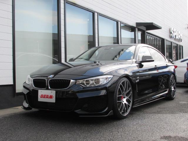 BMW 4シリーズ 420iグランクーペ ラグジュアリー 420iGCラグジュアリーBEAMコンプリートカーブラックレザーシート/アクティブクルーズ/衝突軽減ブレーキ/レーンキープアシスト/BEAMフルエアロ/BEAM20インチアルミ/ローダウン4本出マフラ