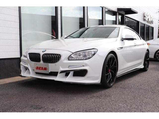 BMW 6シリーズ 640iグランクーペ 正規ディーラー車/ブラウンレザー/シートヒーター/コンフォートアクセス/HDDナビ/地デジ/Bカメラ/ブルートゥース/BEAMフルエアロ/BEAM20インチアルミ/BEA4本出しマフラー