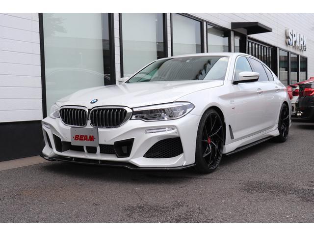 BMW 5シリーズ 523d ラグジュアリー BEAMコンプリートカー/BEAMフルエアロ/BEAM20インチアルミ/BEAM4本出しマフラー/ローダウン/ソフトクローズドア/ベンチレーション付きブラックレザーシート/HUD/BMWメーカー保証有