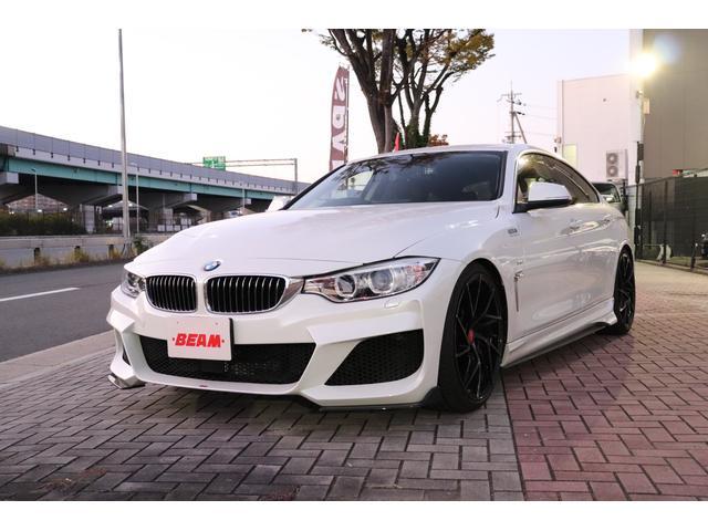 BMW 420iグランクーペ ラグジュアリー BEAMコンプリートカー ブラックレザー ACC 地デジ バックカメラ 前後低ダストブレーキ 前後2カメラドラレコ