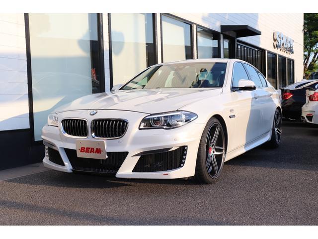 BMW 5シリーズ 528iラグジュアリー BEAMコンプリートカーLEDヘッドライトLEDマルチディスプレイメーター  ブラックレザーシート フルセグ アクティブクルコンレーンチェンジウォーニング 衝突軽減ブレーキ バックカメラ ミラーETC