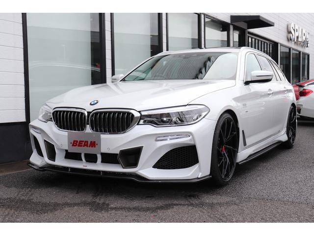 BMW 5シリーズ 523iツーリング ラグジュアリー BEAMコンプリートカー/BEAMフルエアロ/BEAM20インチアルミ/BEAM4本テール/パノラマサンルーフ/ACC/黒革/ソフトクローズドア/シートヒーター/全周囲カメラ/オートトランク/BT