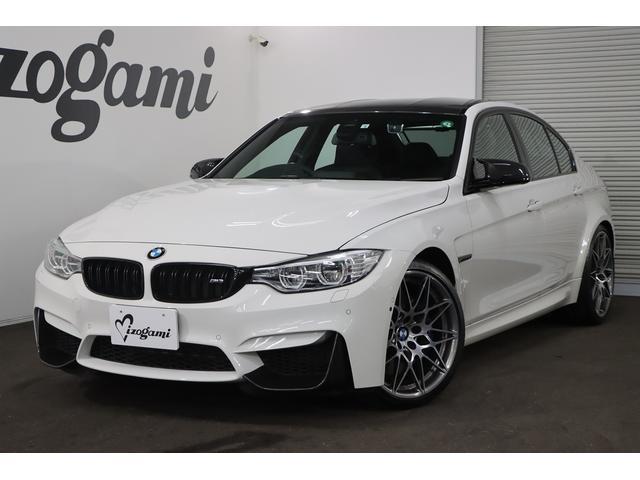 BMW M3セダン コンペティション 純正HDDナビ フルセグTV 前後ドライブレコーダー パドルシフト 専用革Mスポーツシート カーボンインテリアトリム 360カメラ 1オーナー シートヒーター 純正20インチAW LEDヘッドライト