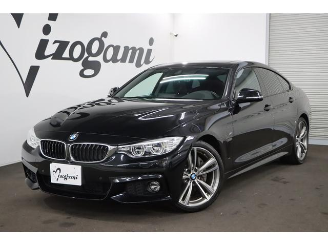 BMW 4シリーズ 440iグランクーペ Mスポーツ 左ハンドル/純正フルセグHDDナビ/サンルーフ/パドルシフト/黒革パワーシート/シートヒーター/地デジキャンセラー/Bカメラ/純正19インチAW/LEDヘッド/スマートキー/ETC/ISTOP