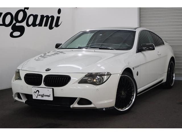 BMW 6シリーズ 645Ci 黒革パワーシート/キセノンヘッドライト/左ハンドル/パークセンサー/ETC/シートヒーター/20インチAW/純正ナビ