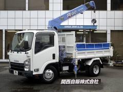 エルフトラック4段クレーン ダンプ 2.3t NOX適合