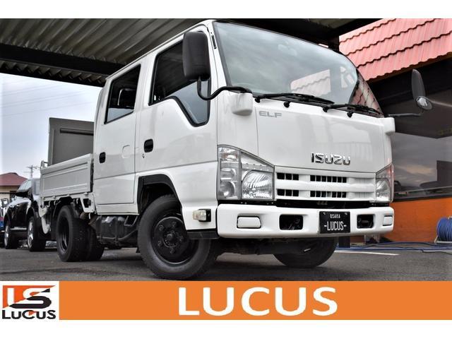 いすゞ エルフトラック Wキャブフラットロー PS PW 5MT 大型パワーゲート 積載2000kg ホイールブラック ETC トラックカスタムパーツ有
