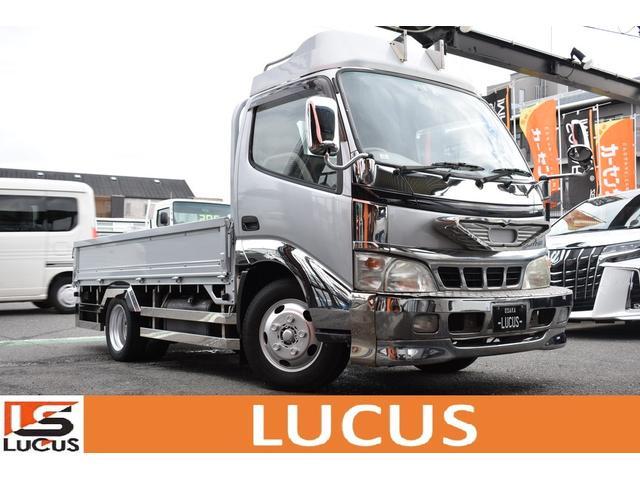 トヨタ ダイナトラック ジャストロー PS PW 5MT 積載2000kg 外品ナビ ETC ルーフキャリア 行燈 サイドバンパー リアバンパー 外品テール メッキパーツ