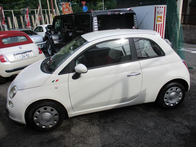 フィアット 500 1.2 ポップ ワンオーナー車外ナビTV ETC レッド&ホワイトシート ステアリングマチック CDオーディオ スタート&ストップ機能付き