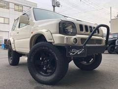 ジムニーXL ベージュオールペイント リフトアップ バンパー マフラー オーバーフェンダー ワイトレ A/Tタイヤ 4WD ターボ タイミングチェーン AT 8.4万キロ