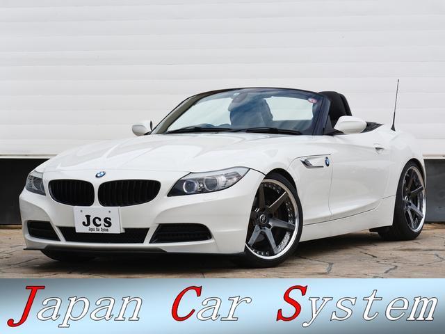 BMW Z4 sDrive23i ハイラインパッケージ 黒革 iDriveナビ 直6NAエンジン WORK19インチAW H&Rダウンサス ブラックキドニーグリル フロントリップスポイラー 後期サイドマーカー シルキーシックス