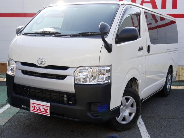 トヨタ ハイエースバン DX フルタイム4WD/ダブルエアコン/LEDヘッドライト/寒冷地仕様/SDナビ/メーカーオプションバックカメラ/100Vアクセサリーコンセント/ビルトインETC/セキュリティアラーム/助手席エアーバック