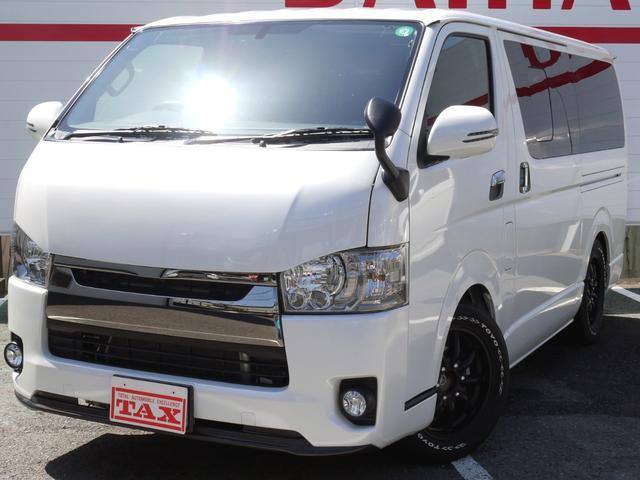 トヨタ スーパーGL ダークプライム ワンオーナー/Panasonicナビ/LEDヘッドライト・フォグ/ベットキット/ファブレス・ヴァローネ17インチ/カーボン調リップガーニッシュ/AC100V