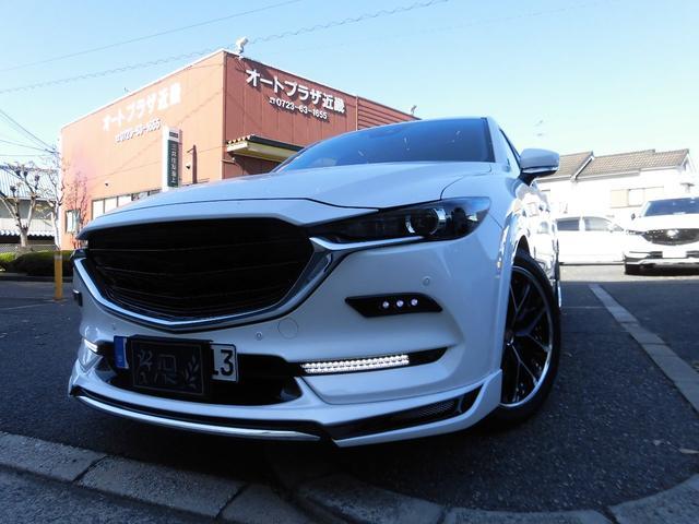 マツダ CX-8 25S ワンオーナー車 禁煙車 オーダーシートカバー アドミレーションフルエアロ 社外20インチアルミ ローダウン 純正SDナビ バックモニター プッシュスタート ETC LEDヘッドライト 社外Fグリル