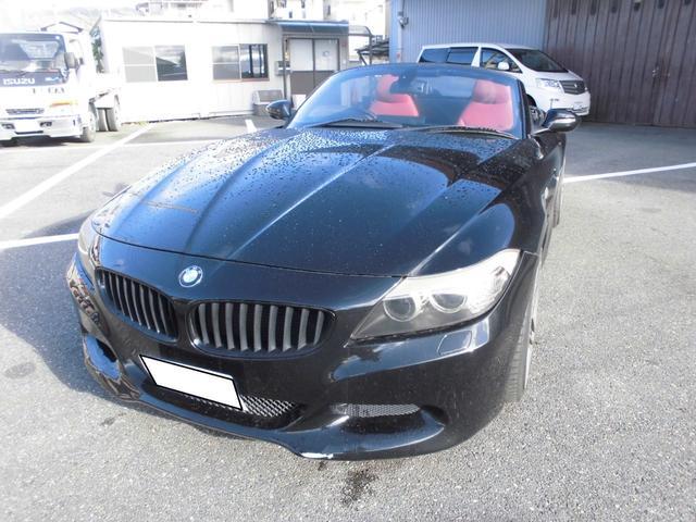 BMW Z4 sDrive23i 赤レザー 19インチ  シュニッツァーフェンダーサブウ-ハ- デフェ-サ- 外品シフト 車高調