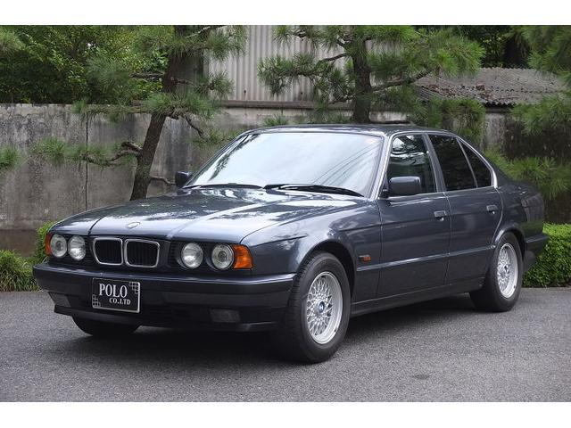 BMW 525i グレー革 サンルーフ キーレス ETC HID