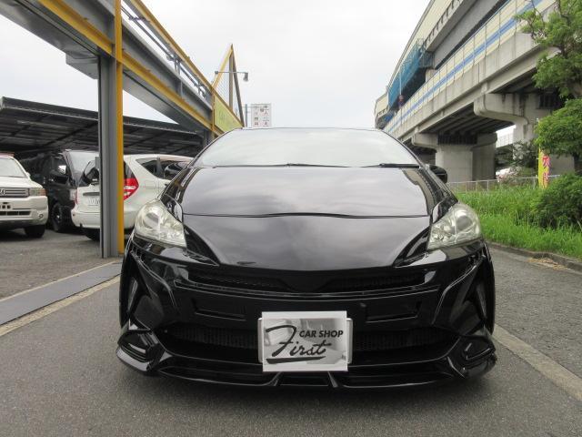 トヨタ S フルエアロ車高調18アルミ LEDライトHDDナビ