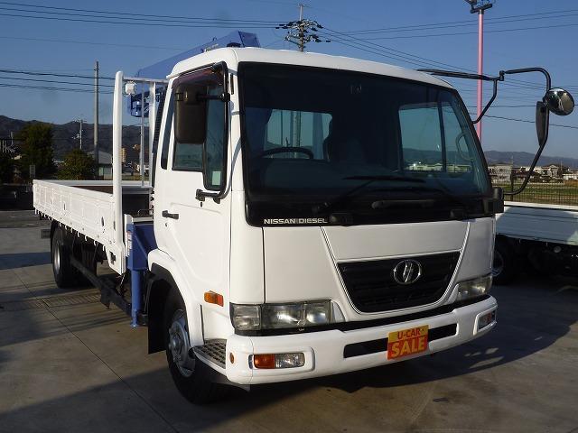 UDトラックス 4段クレーン ラジコン付 フックイン付 ターボ 積載2650