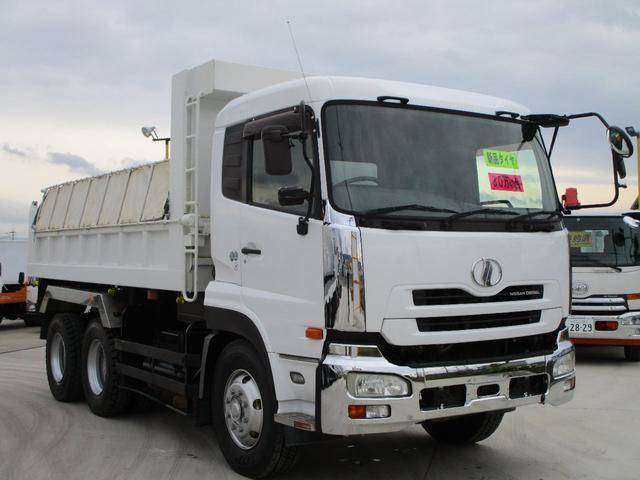 UDトラックス ダンプ 積載8.2t 2デフ ターボ車 380馬力