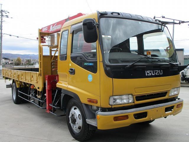 いすゞ 4段クレーン 増トン ラジコン付 荷台鉄板張り 積載7.4t