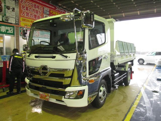 日野 新型210馬力ターボPCS新明和ローダーダンプ電動コボレーン