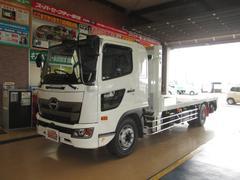 ヒノレンジャー豪華仕様PCSフジタ重機運搬車ウインチ引掛式あゆみ7.5トン