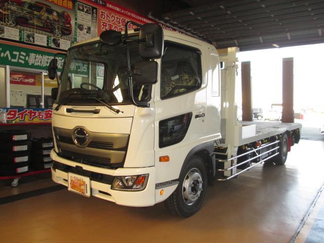 日野 豪華仕様PCS フジタ重機運搬車ウインチ自動あゆみ7.1トン