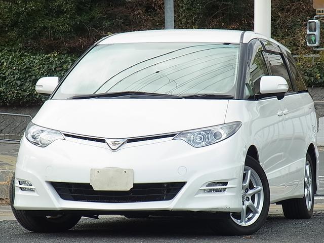 トヨタ アエラス 7人乗 バックモニター付ナビ ETC オットマン付キャプテンシート 左側電動スライドドア プッシュスタートスマートキー タイミングチェーン