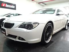 BMW645Ci白革ガラスSRナビ20AWクルコンPシートシートH