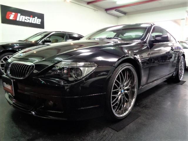 BMW 650i後期型黒革IドライブHDDナビガラスSR22アルミ